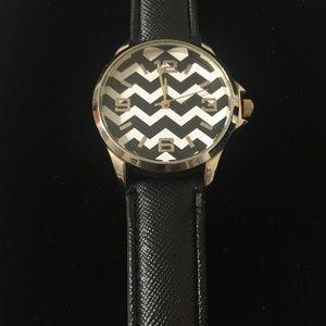 Geneva Genuine Leather Women's Watch